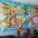 Mural by Franco Alessandrini on the 1st floor