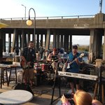 Live music at the outside bar