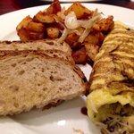 Mediterranean omelet  Saturday brunch