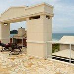 Vista da praia do Mariscal a partir do terraço