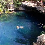 cooling off in the cenote