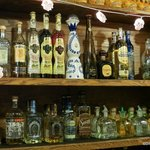 Some of the tequila at the Barr in Efrains, Boulder, Co