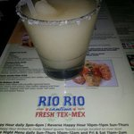 Rio Rio margarita frozen. Flavor and their salt makes for a great fusion of flavors.