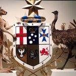オーストラリアのシンボルマークを実際の動物で展示してました