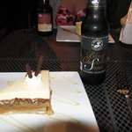 vanilla pecan pie with a fabulous chocolate stout!