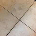No grout makes for pinches on bare feet.