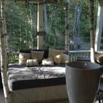 Day bed on the cozy porch