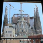 View of the Sagrada Familia from our first floor room!