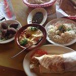 Chicken schwarma, Hummus and kebbes