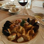 Seafood Cioppino - Lots of seafood with homemade pasta!