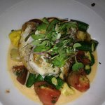 Grouper cheeks with heirloom tomatoes