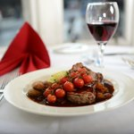 Cranstons restaurant steak with vine tomatoes