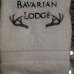 Love the little touches like these towels