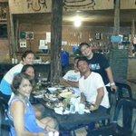 our group having dinner