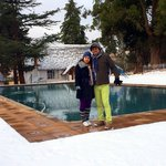 The pool with snow