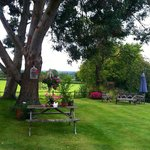 Beautiful view and pretty garden. Aug 2014.