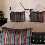 Double bed in Marrakech room