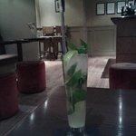 Pear mojito in the bar