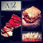 tiramisù y tarta de queso del Nove pidelos y reservalos para tus aniversarios!!!