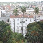 Vista de la plaza desde el balcón del noveno piso