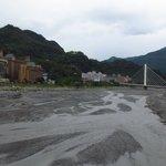 知本の温泉街