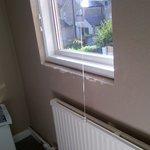 Bedroom window - dirty brown