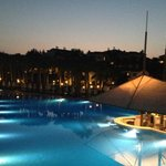 Another view of the pool, by night