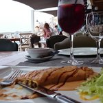 A starter with a view... (fish and seafood canelon)