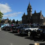 Vintage Car Rally in the village