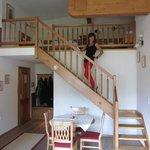 In de kamer trap naar tweede kamer