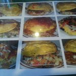 Huge selection of omelettes!