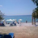 Filoxenia beach, inclusive sunbeds