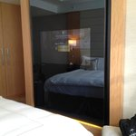 TV embedded in mirror