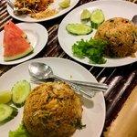 pad thai and tom yum fried rice