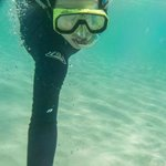 Abbey snorkelling on the Ocean Spirit trip to Michaelmas Cay.