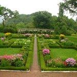 Formal garden behind Hildene