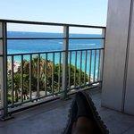 Enjoying the balcony