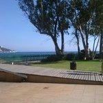 vue de la terrasse de l'hôtel