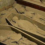 The mummies in the first crypt