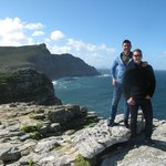 Matt and Byron at the Cape of Good Hope - one of many pics Clive took for us