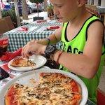 Pizza med champignon