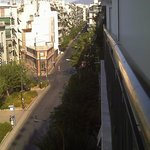 Filadelfias Street (as seen from balcony at the front) not very busy - especially during the nig