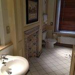 Bathroom window is main corridor in hotel. Room 31.
