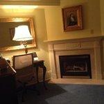 Cavernous but cozy sitting area in suite 167