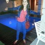Área da piscina a noite toda iluminada!!!