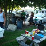two large gas grills provide a great BBQ venue