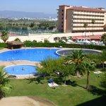 piscine et jardins de Los Juncos vue de la terrasse