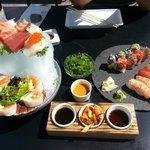 Sashimi menu og lidt til