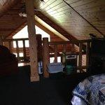 View from Loft Bedroom towards inside of cabin