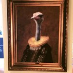 emu head painting - nice touch